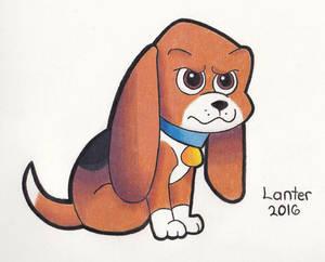 Beagle Standing Guard