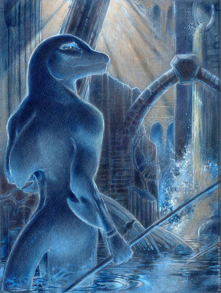 Dolphin Warrior. by BubbleWolf
