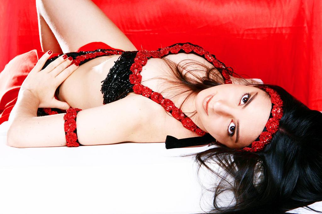 Belly Dancer in Red Stock 10 by LoryenZeytin