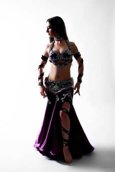 Purple Belly Dance Stock 01