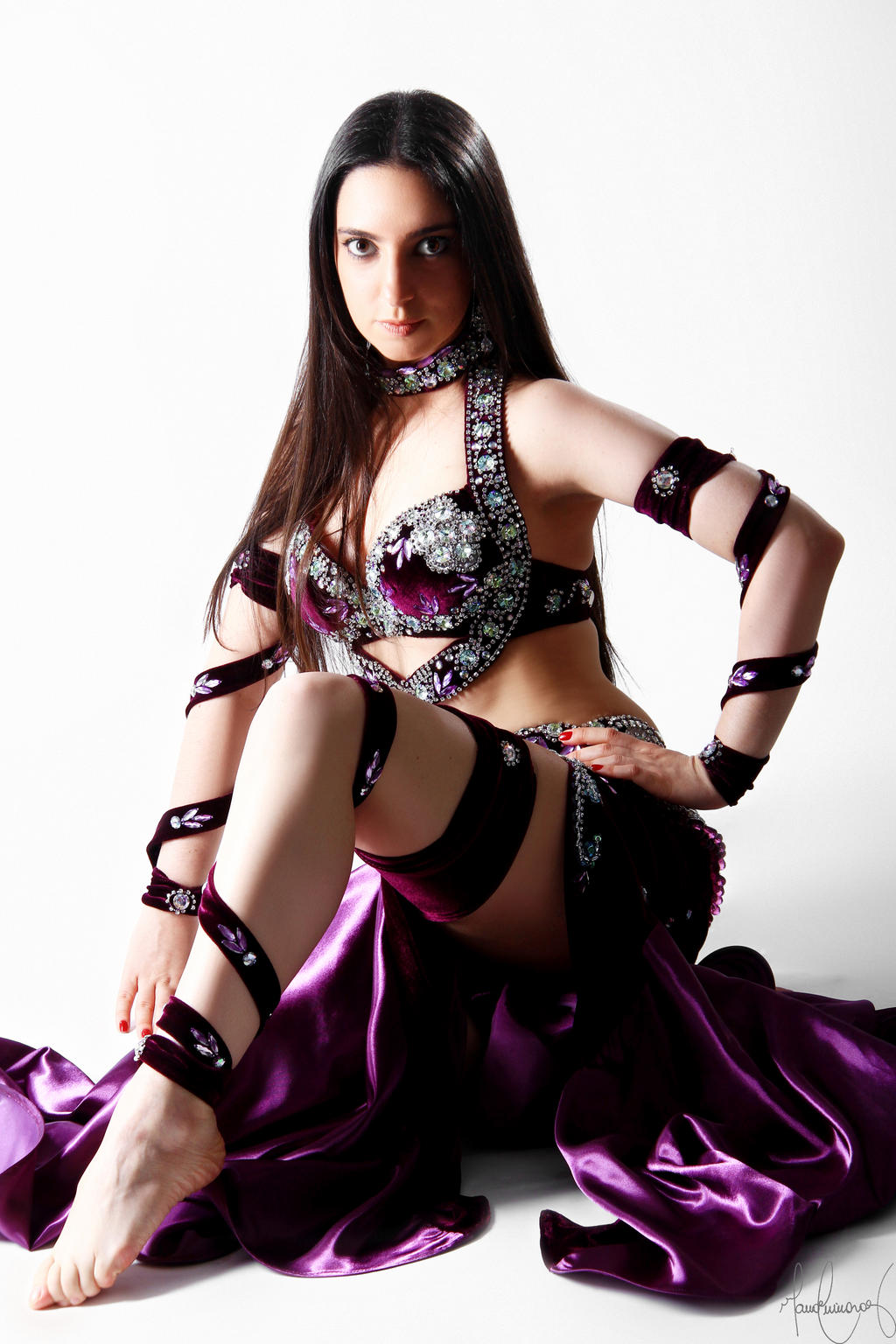 Purple Belly Dance Stock 18 by LoryenZeytin
