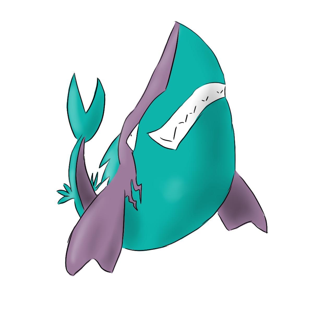 Cards of the Heart Sharkmon_by_puschelhuhn-d518y42