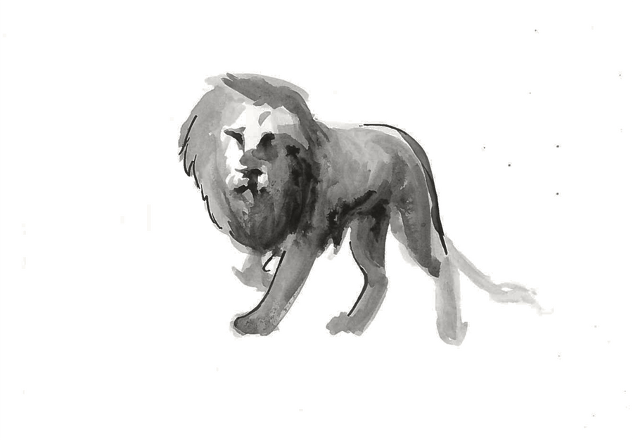 Ink Lion by Kiulani