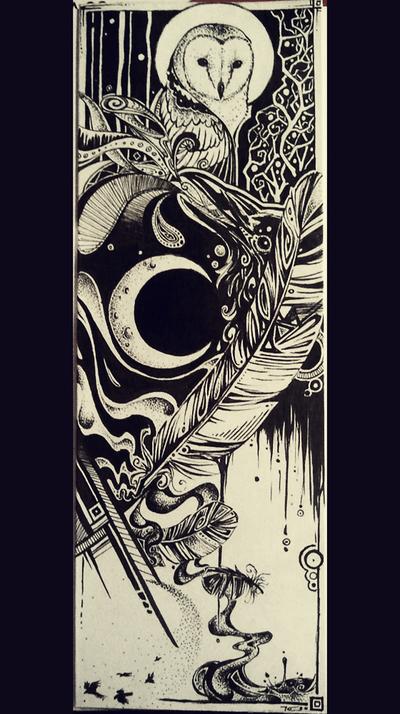 Owl and Raven by Kiulani