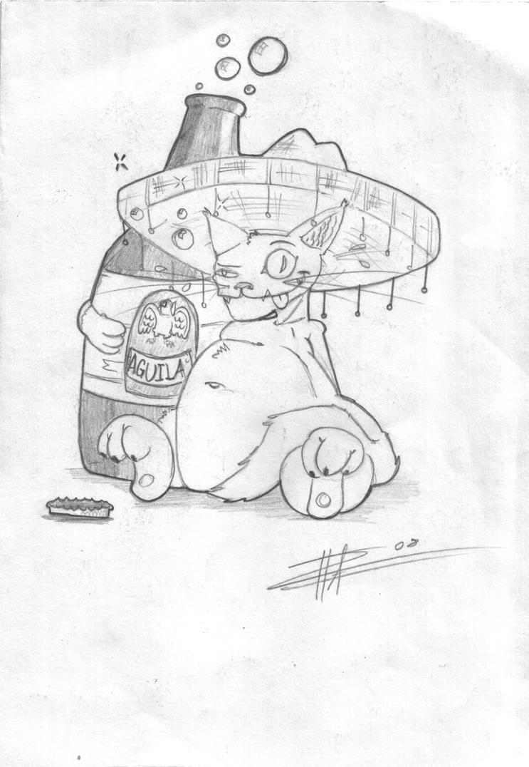gato borracho by davidayalde