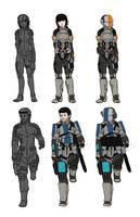 Spacesuits Redux by Dehzinn