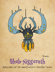 Shub-Niggurath - Black Goat of the Woods by StephenLewisArt