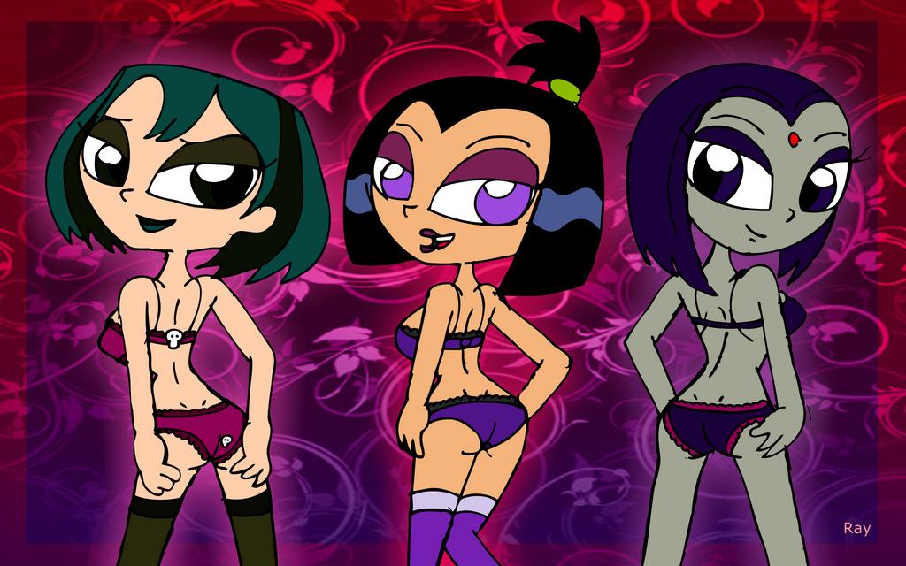 Gwen, Raven,and Sam by Rayryan