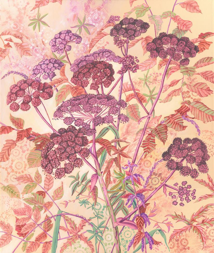 Hogweed surface pattern by LynneHendersonArt