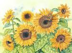 Sunflowers II by LynneHendersonArt
