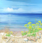 Mediterranean Calm, acrylic on canvas