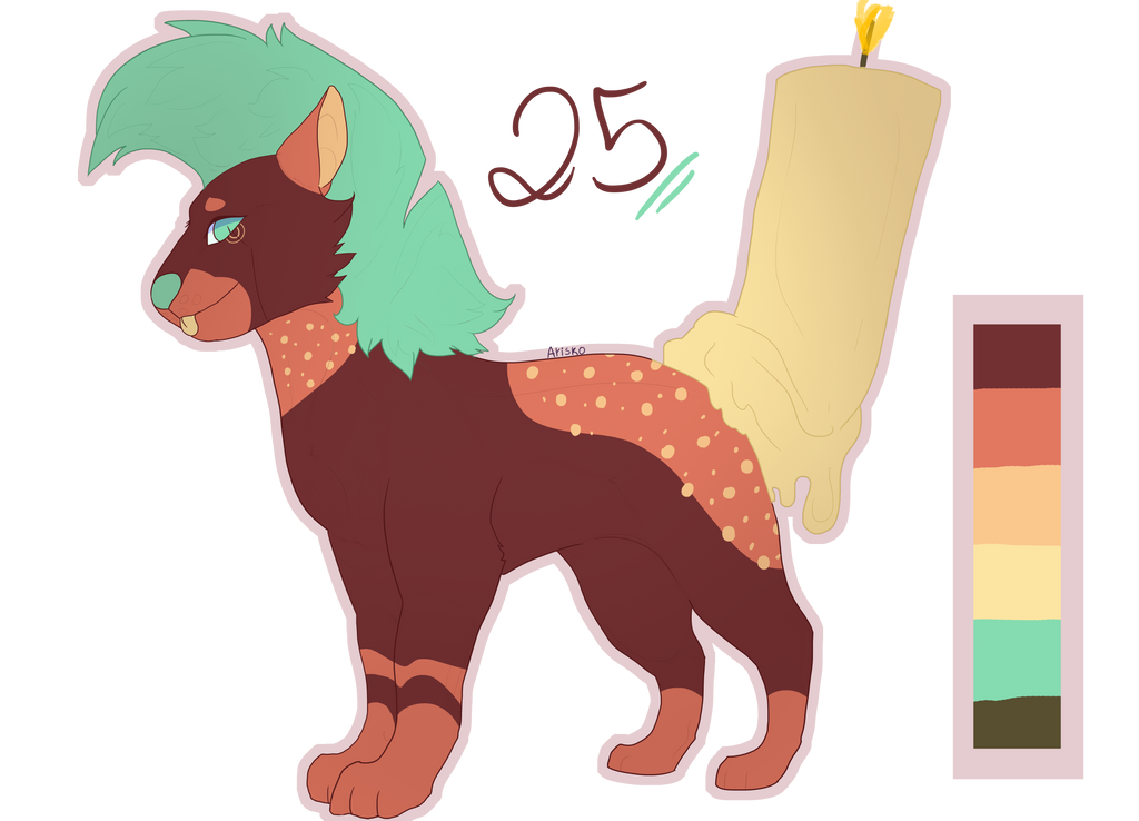 (CLOSED AUCTION) Candle Dog by Bayonettu