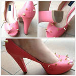 Gorgeous SPIKE CORAL PLATFORM SHOES