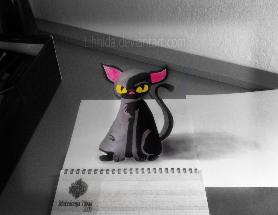 pin 3d black cat - photo #48