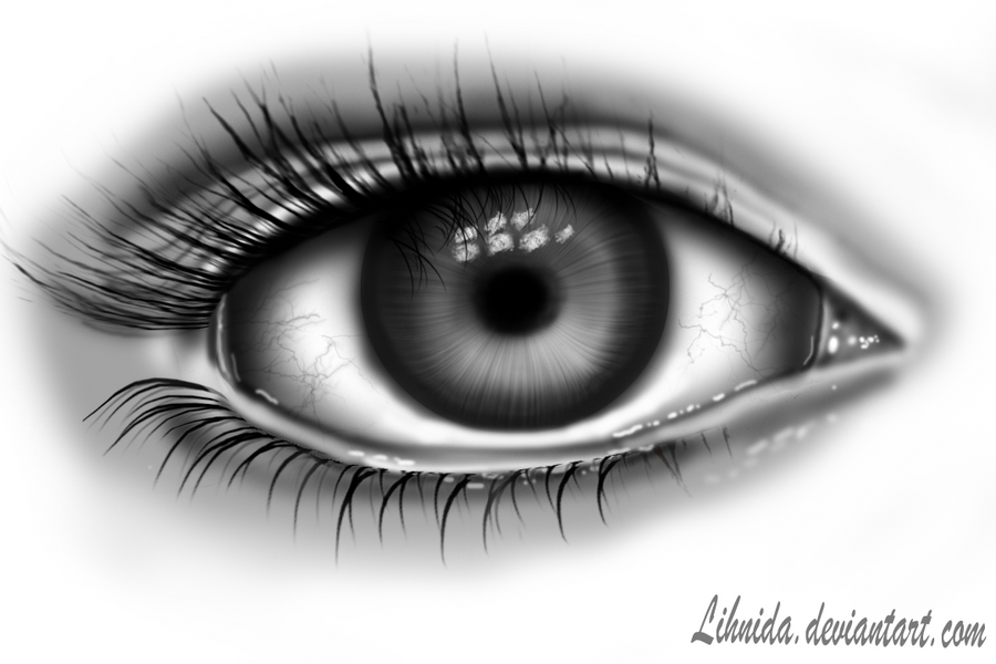 My first digital drawing (eye) by lihnida