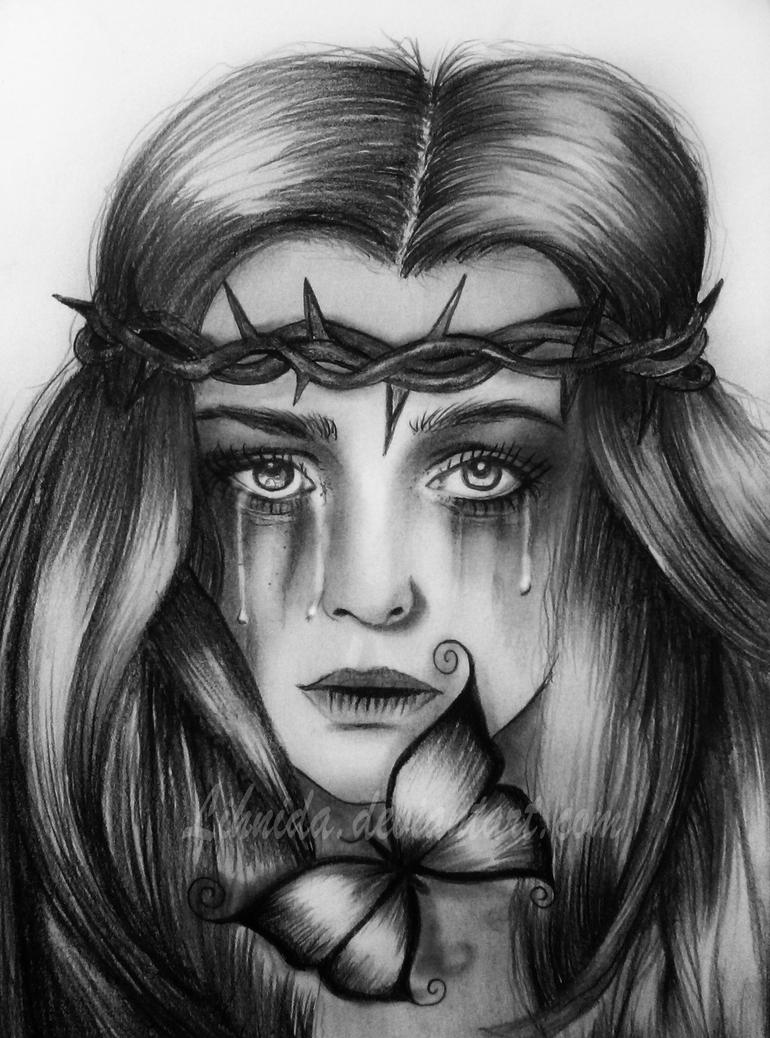 Crying girl by lihnidasad drawings of people crying