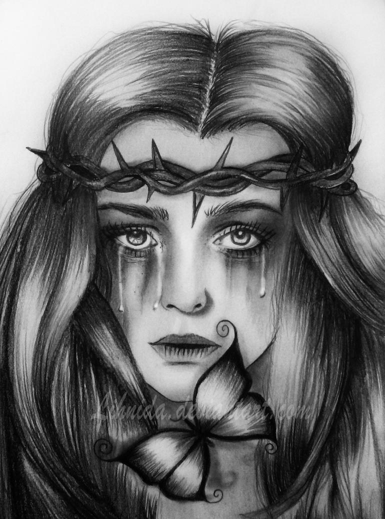Crying girl by lihnidasad drawings of people crying