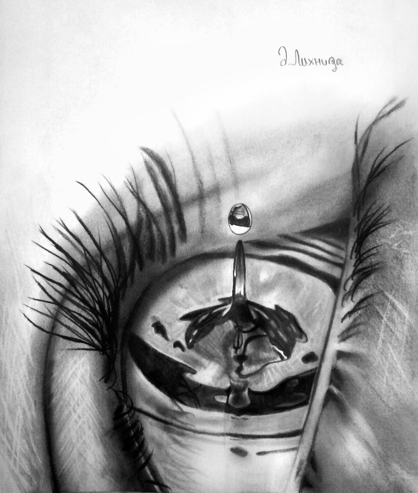 Water drop by lihnida