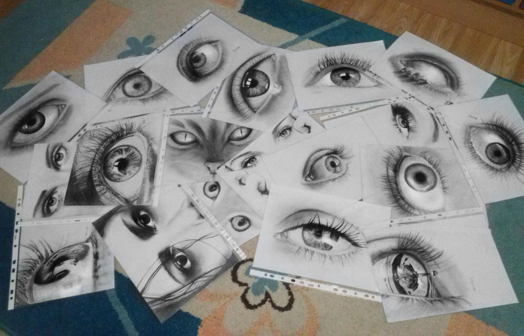 My eye drawings collection by lihnida