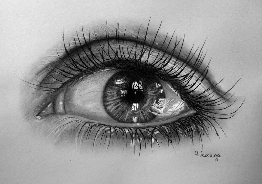 Black and white eye drawing-3292