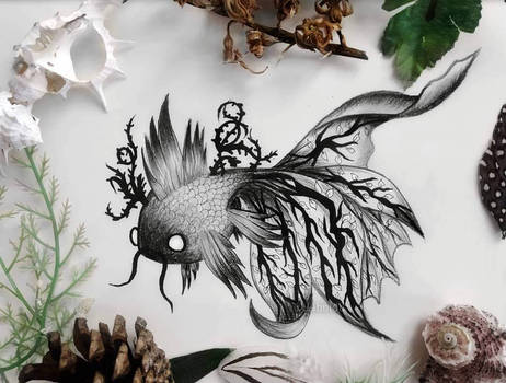 Deep sea fantasy creature