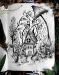 Miniature fantasy house