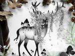 Dark fantasy deer
