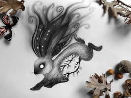 Dark fantasy rabbit