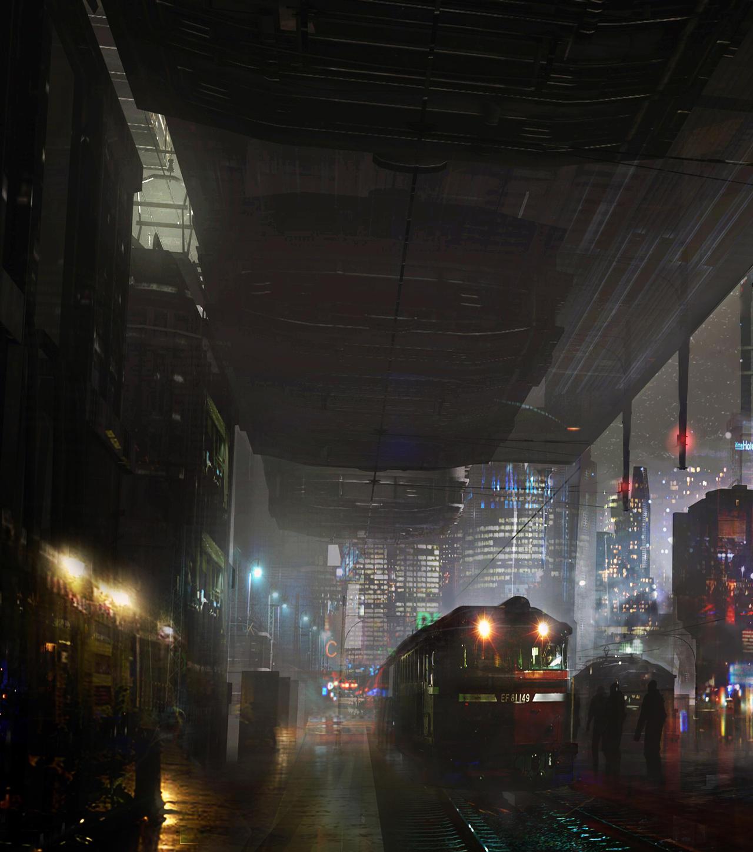 Train Station Night by M-Delcambre on DeviantArt
