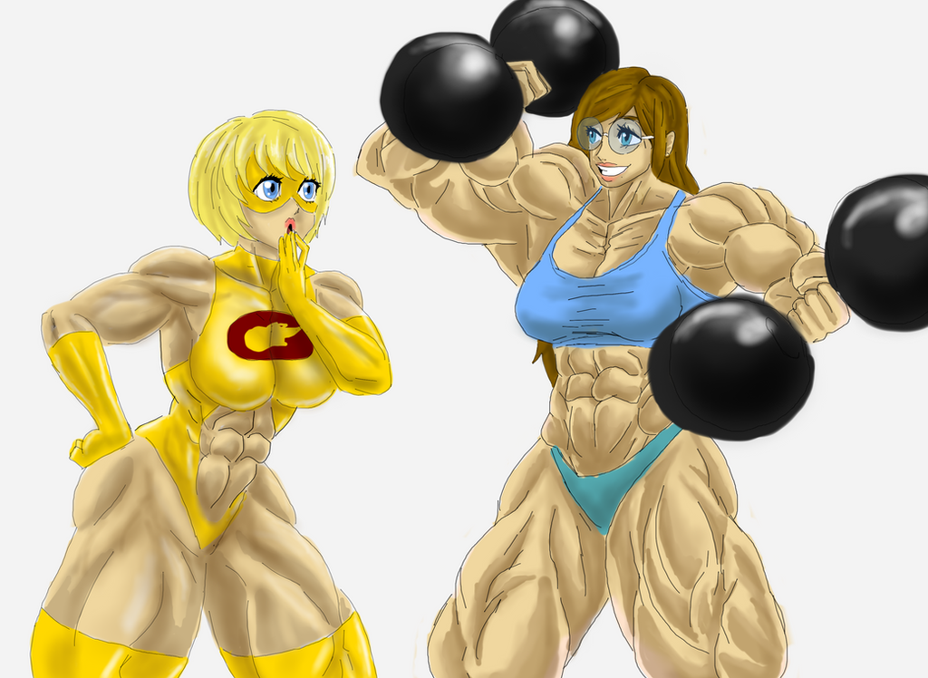 Comet Girl and Defender having some Fun by kittyelfie