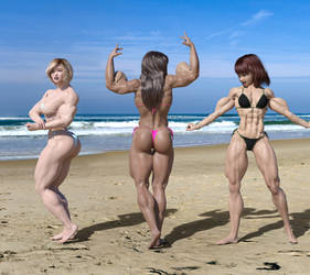 Comet Girl, Heather and Candi at the Beach