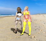 Candi and Cherry on the Beach