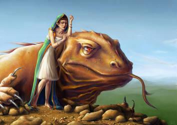 A girl's dragon by Seyreene