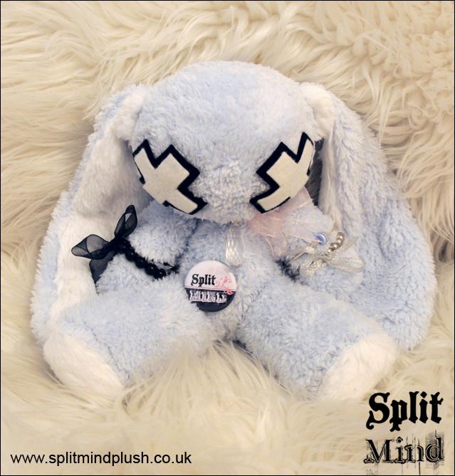 Sweet Blue Bunny by splitmindplush