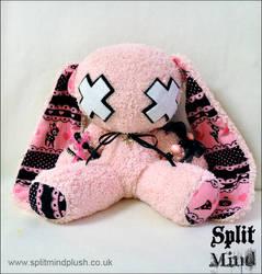 Goth Bunny by splitmindplush