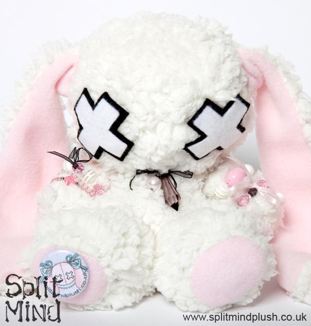 White Fluffy Bunny by splitmindplush