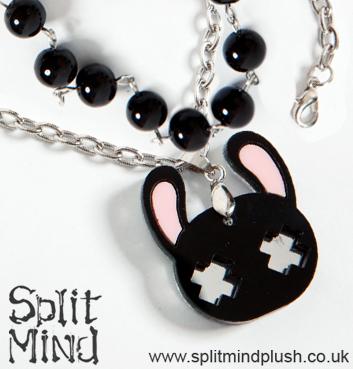 Black Bunny Bracelet by splitmindplush