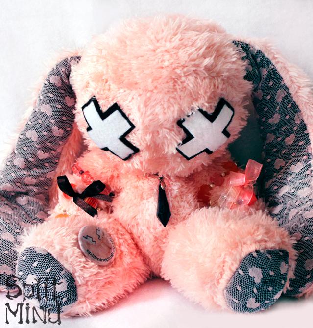 Orange Lace Bunny by splitmindplush