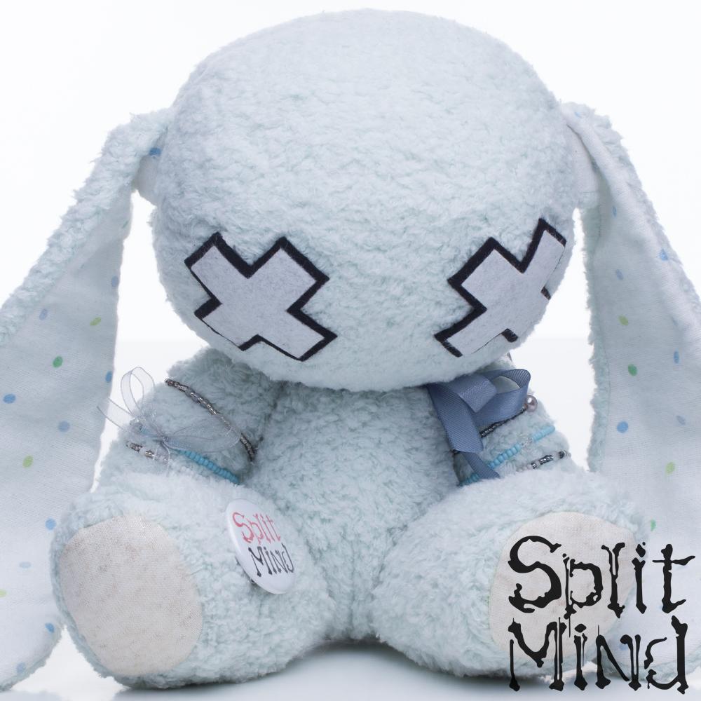 Pale Blue Bunny by splitmindplush