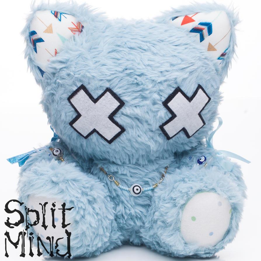 Electric Blue Kitten by splitmindplush