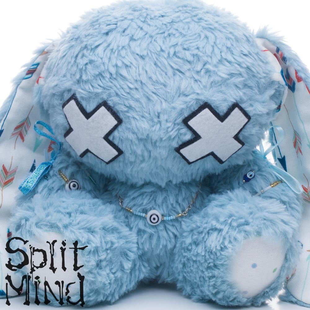 Electric-Blue Bunny by splitmindplush