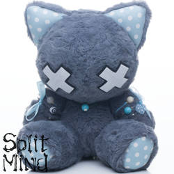 Blue Grey Kitten by splitmindplush