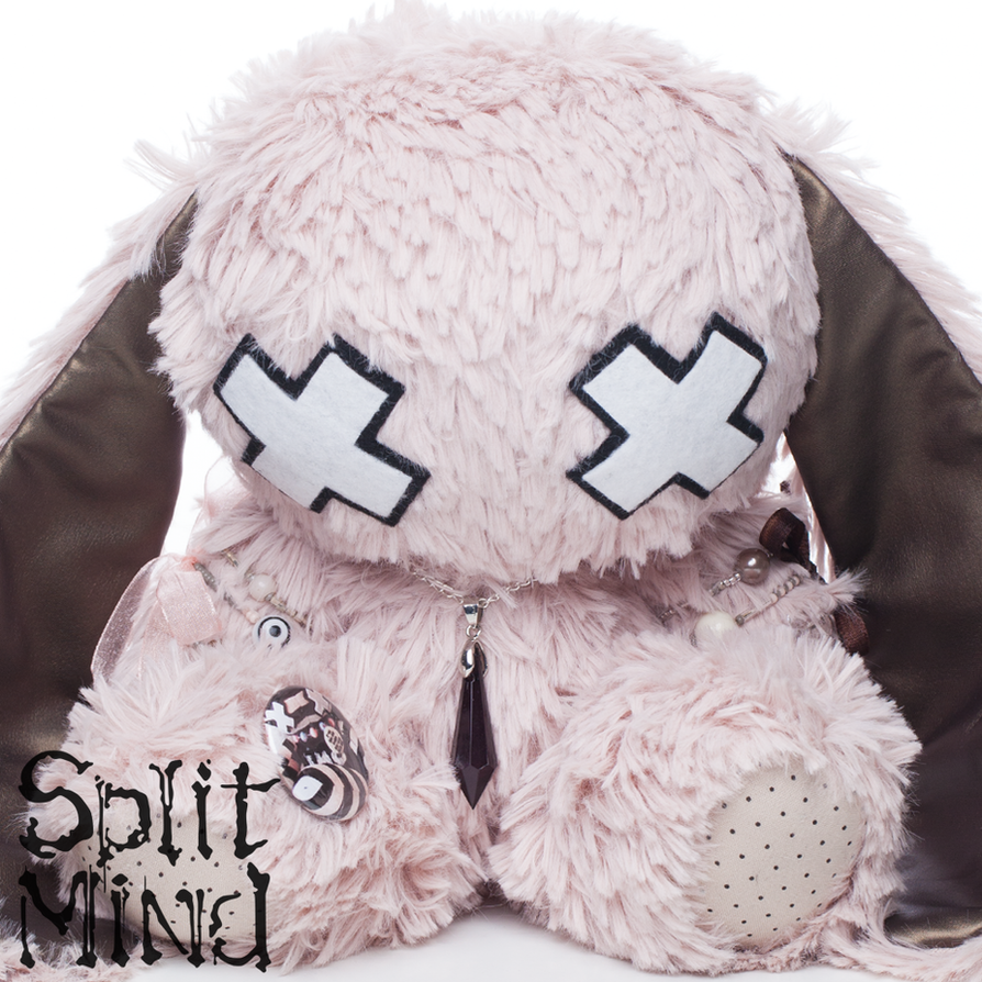 Rose Quarz Bunny by splitmindplush