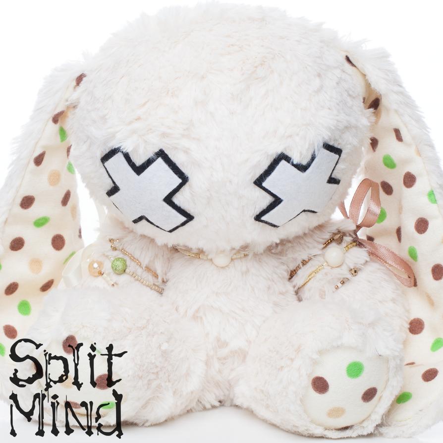 Cream-Dot Bunny by splitmindplush