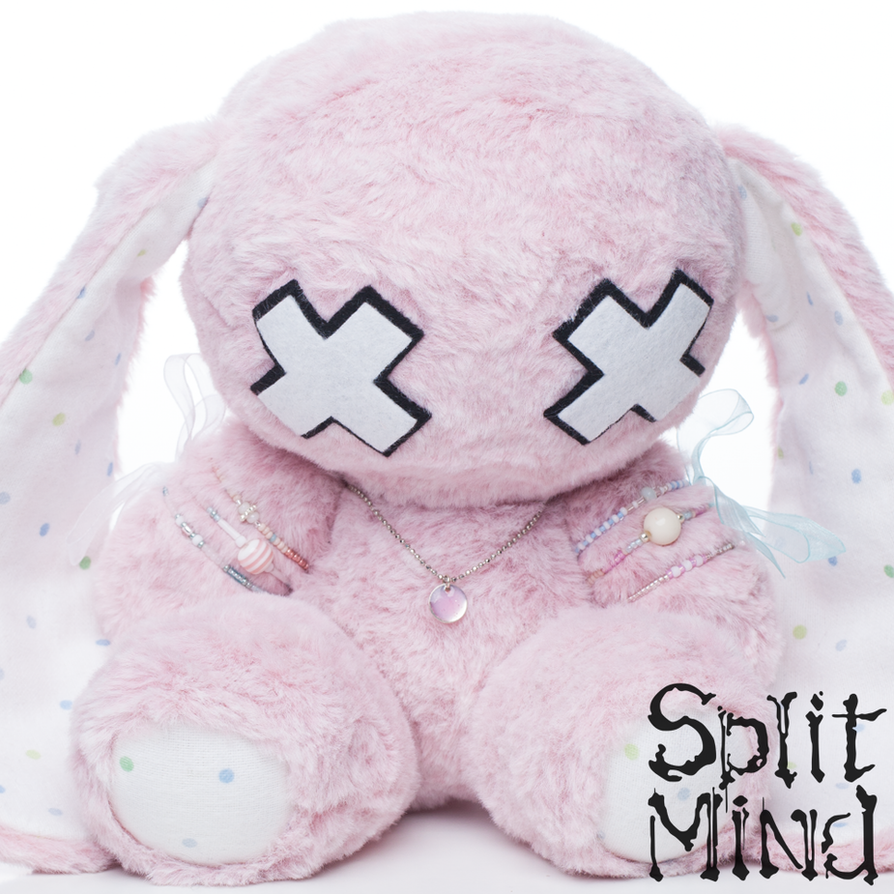 Pink-Dot Bunny by splitmindplush