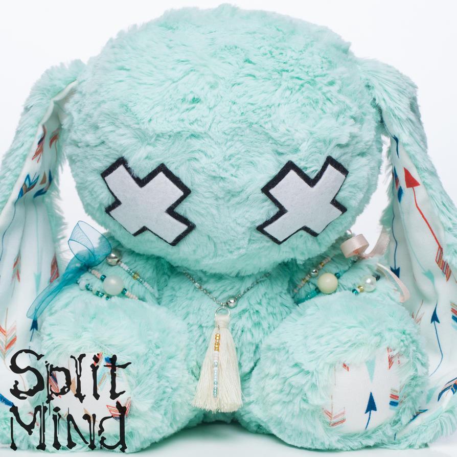 Aquamarine Bunny by splitmindplush