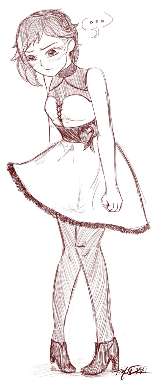 Ruby Prom Dress sketch by skechygrl on DeviantArt