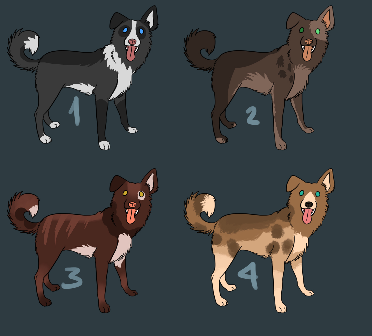 Canine Point Adoptables 8 by Mustang-ADOPTS