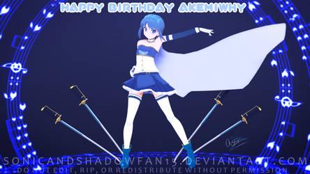 Happy Birthday AkemiWhy by SonicandShadowfan15