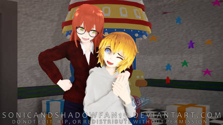 [MMD PMFM] Brother and sister best friends forever by SonicandShadowfan15